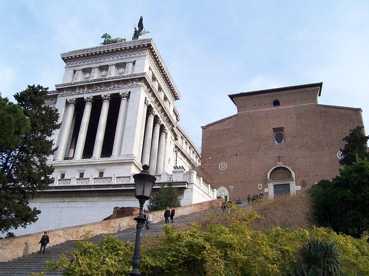 Капитолийский холм, базилика Санта-Мария-ин-Арачели
