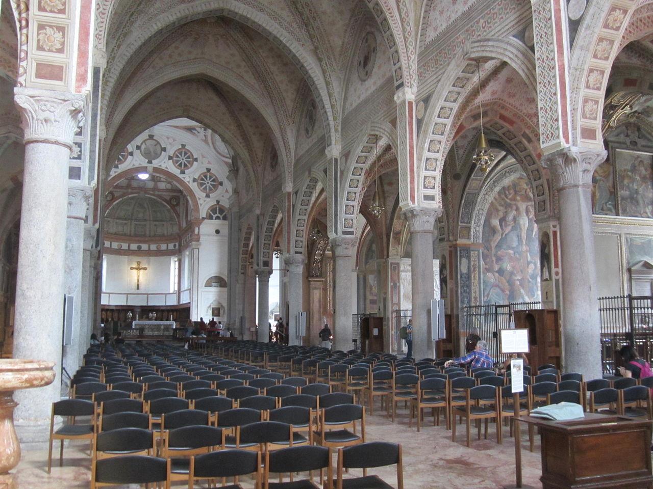 Санта-Мария-делле-Грацие, интерьер