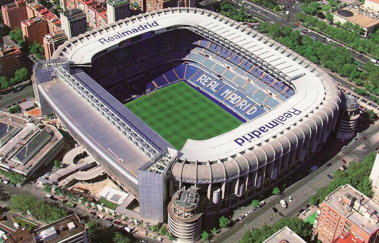 Стадион Сантьяго Бернабеу, вид с воздуха
