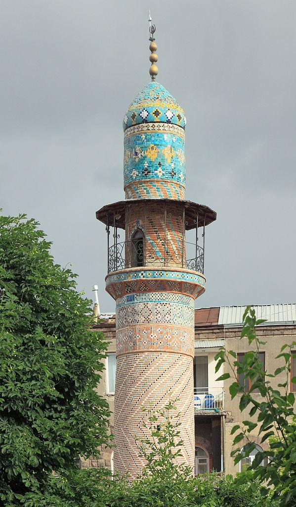 Голубая мечеть в Ереване, минарет