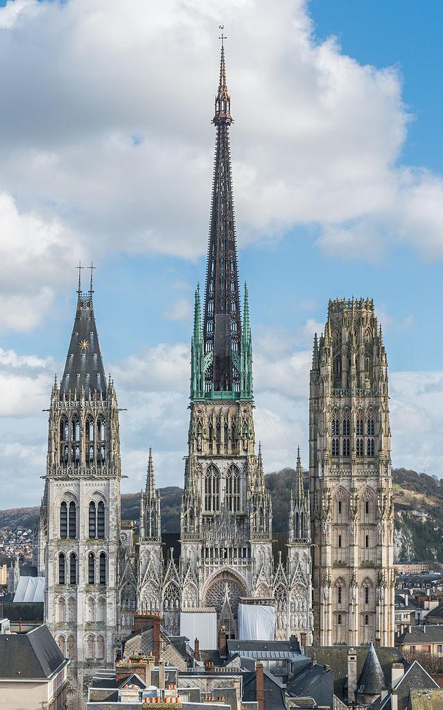 Руанский собор, вид с городской башни
