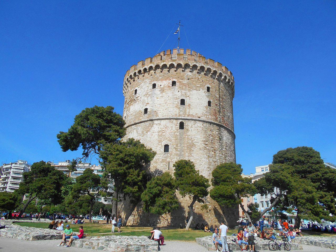 Белая башня в Салониках, панорама