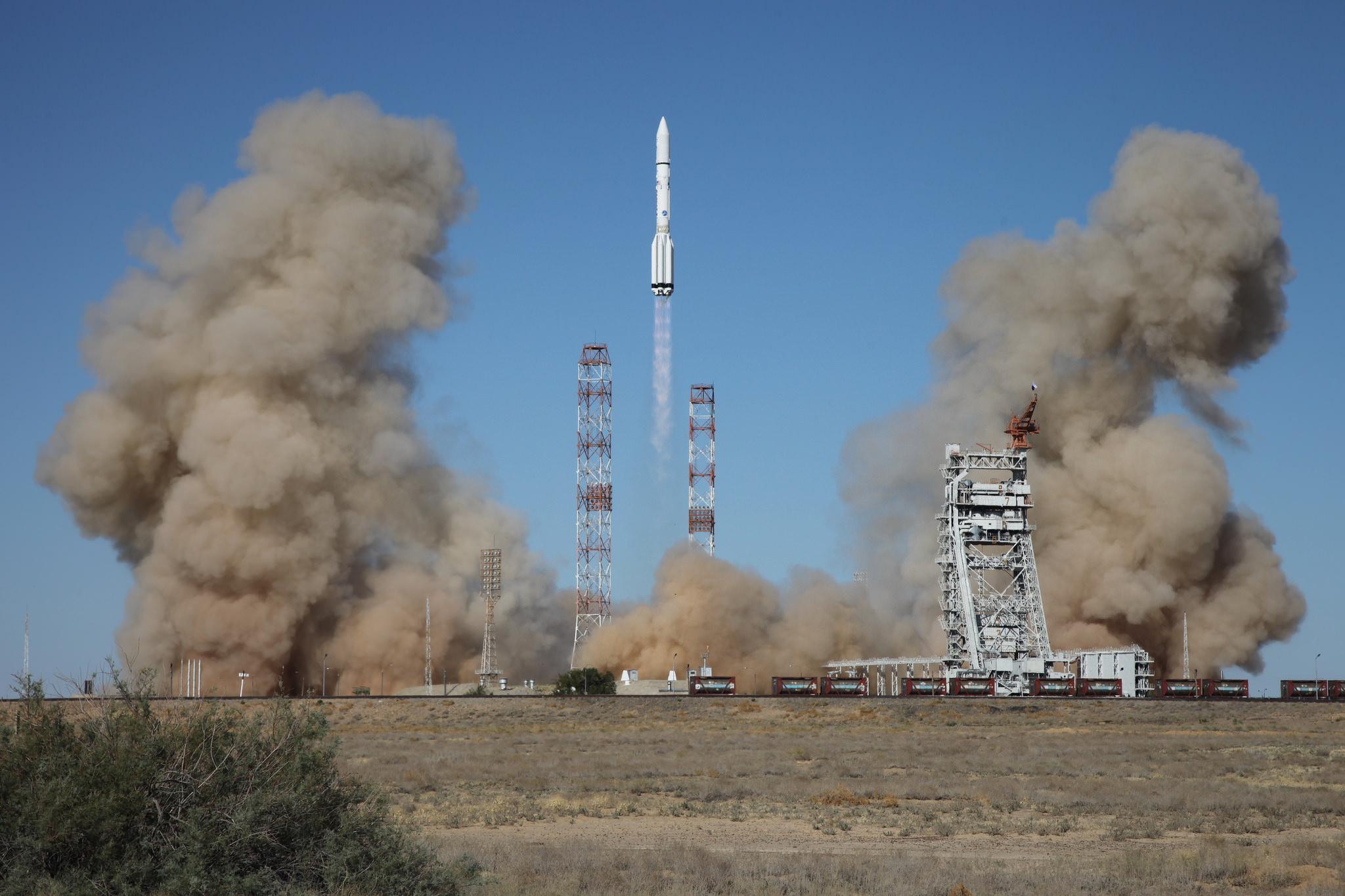 Взлёт ракеты, Космодром Байконур