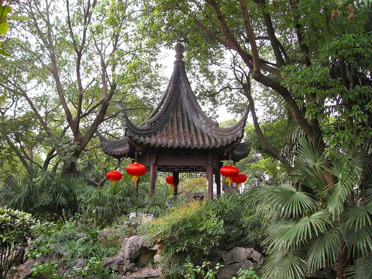 Город на воде Чжуцзяцзяо, павильон в саду Kezhi