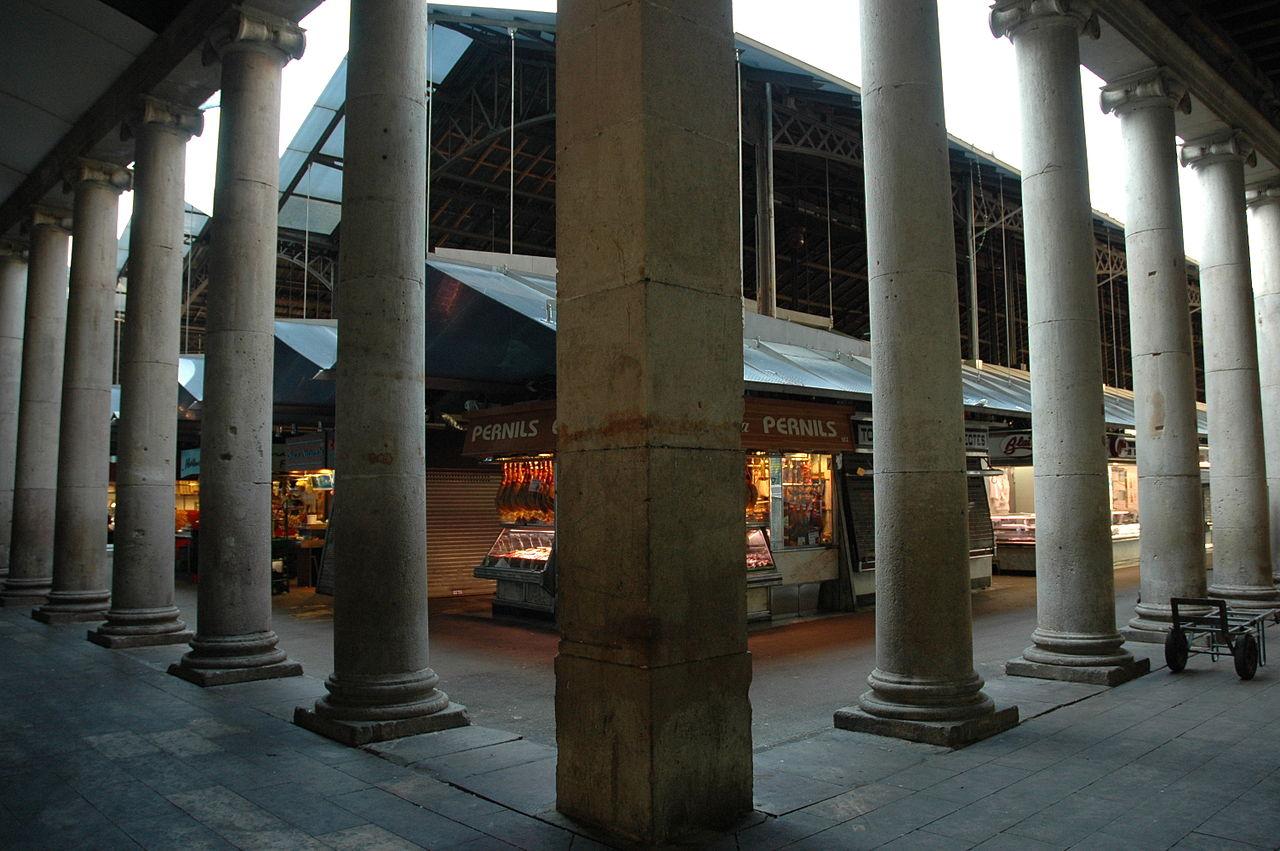 Рынок Бокерия, колонны