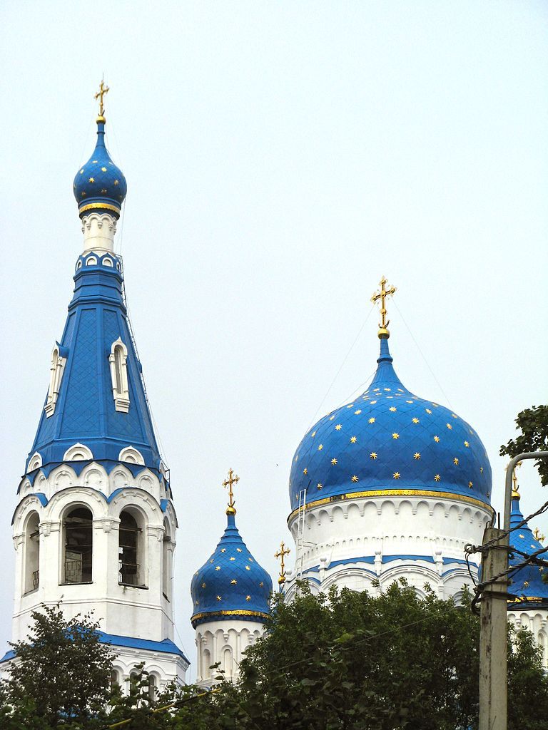 Гатчинский Покровский собор, колокольня и купола