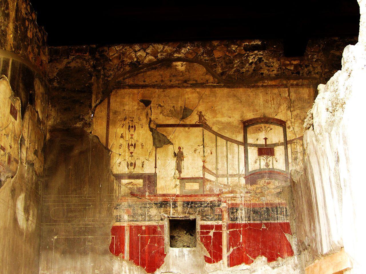 Геркуланум, фреска на стене коллегии Августа