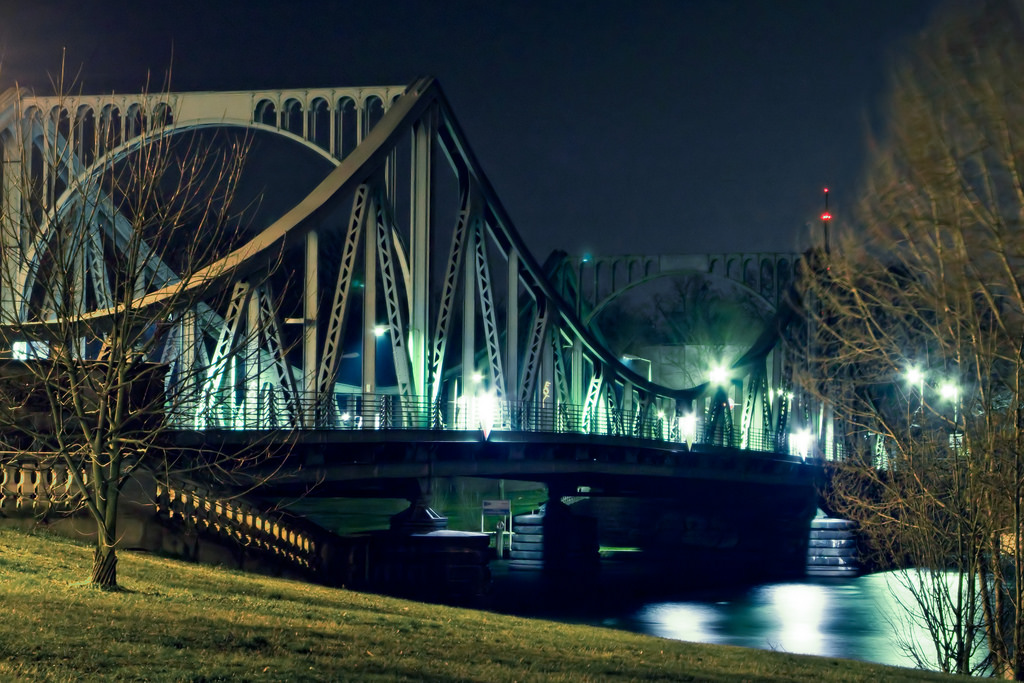Глиникский мост ночью