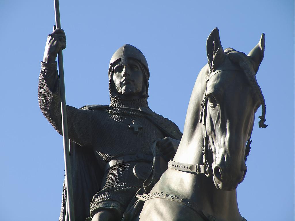 Памятник Святому Вацлаву, фрагмент