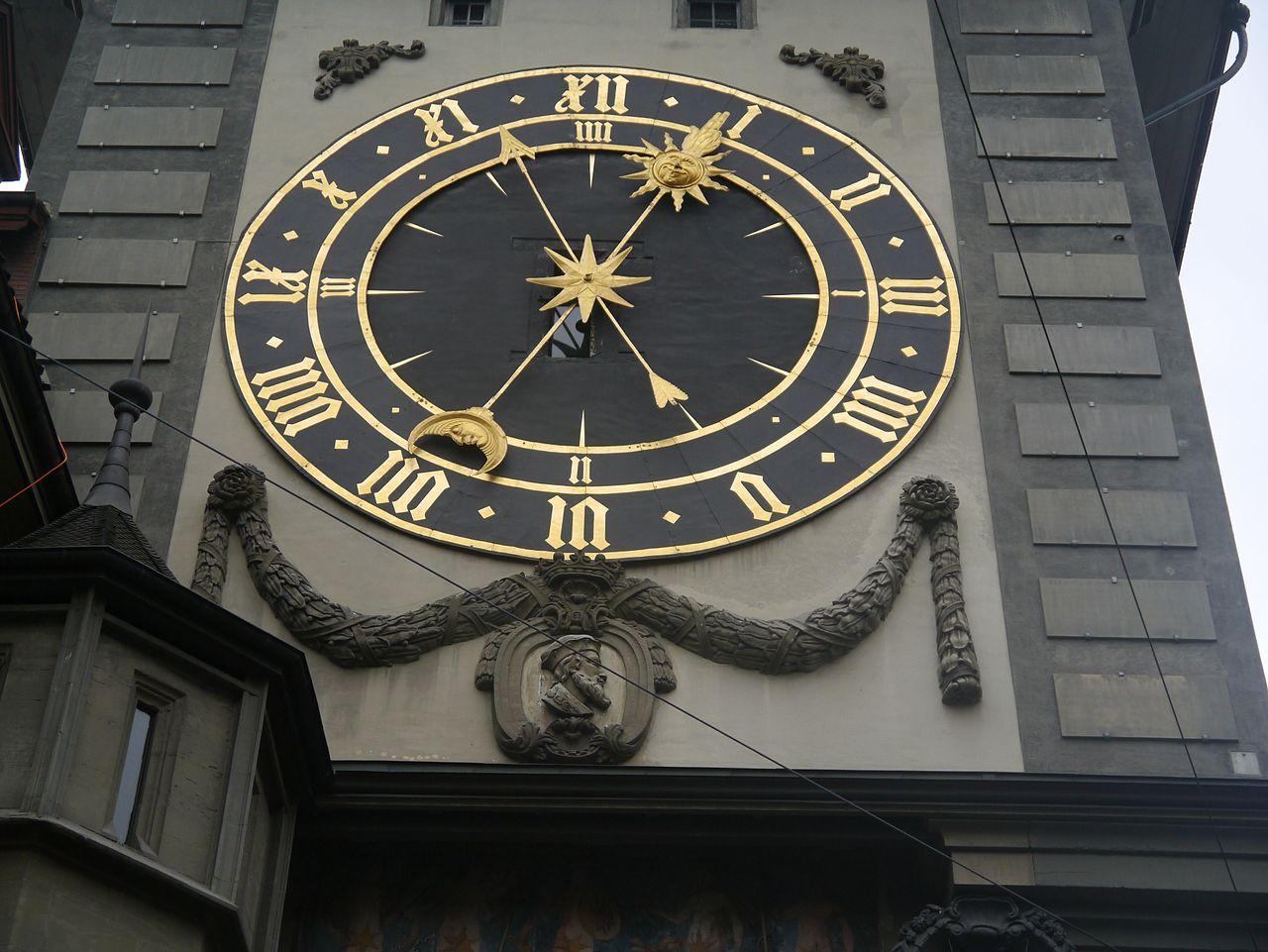Бернская Цитглогге, одна из старейших часовых башен Швейцарии