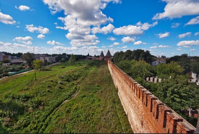 Вид Смоленской крепости