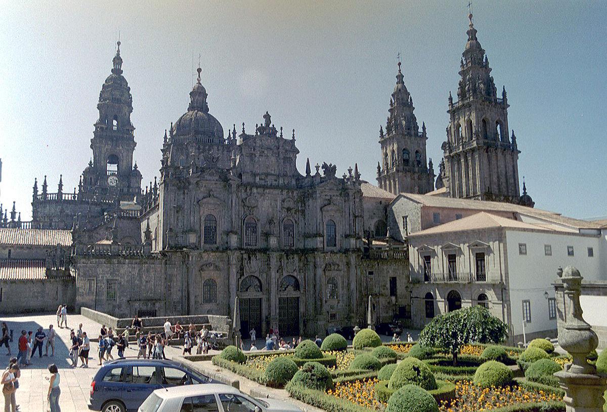 Площадь у Кафедрального собора Сантьяго-де-Компостела
