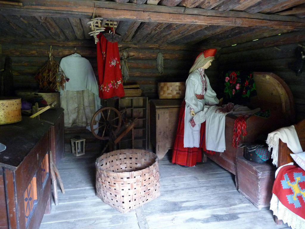Музей Рокка-аль-маре, интерьер фермерского дома