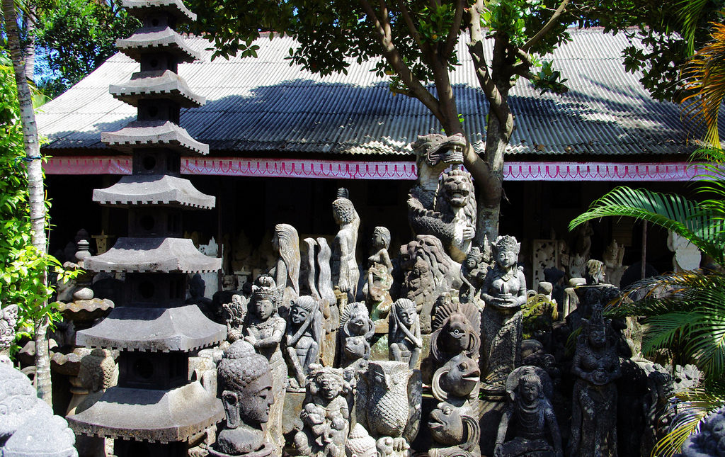 Около храма Пура Пусех, Батубулан