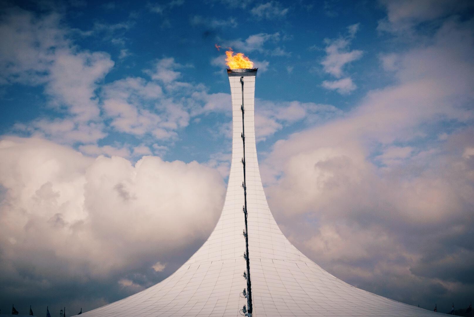 Олимпийский огонь в Олимпийском парке Сочи, Сочи
