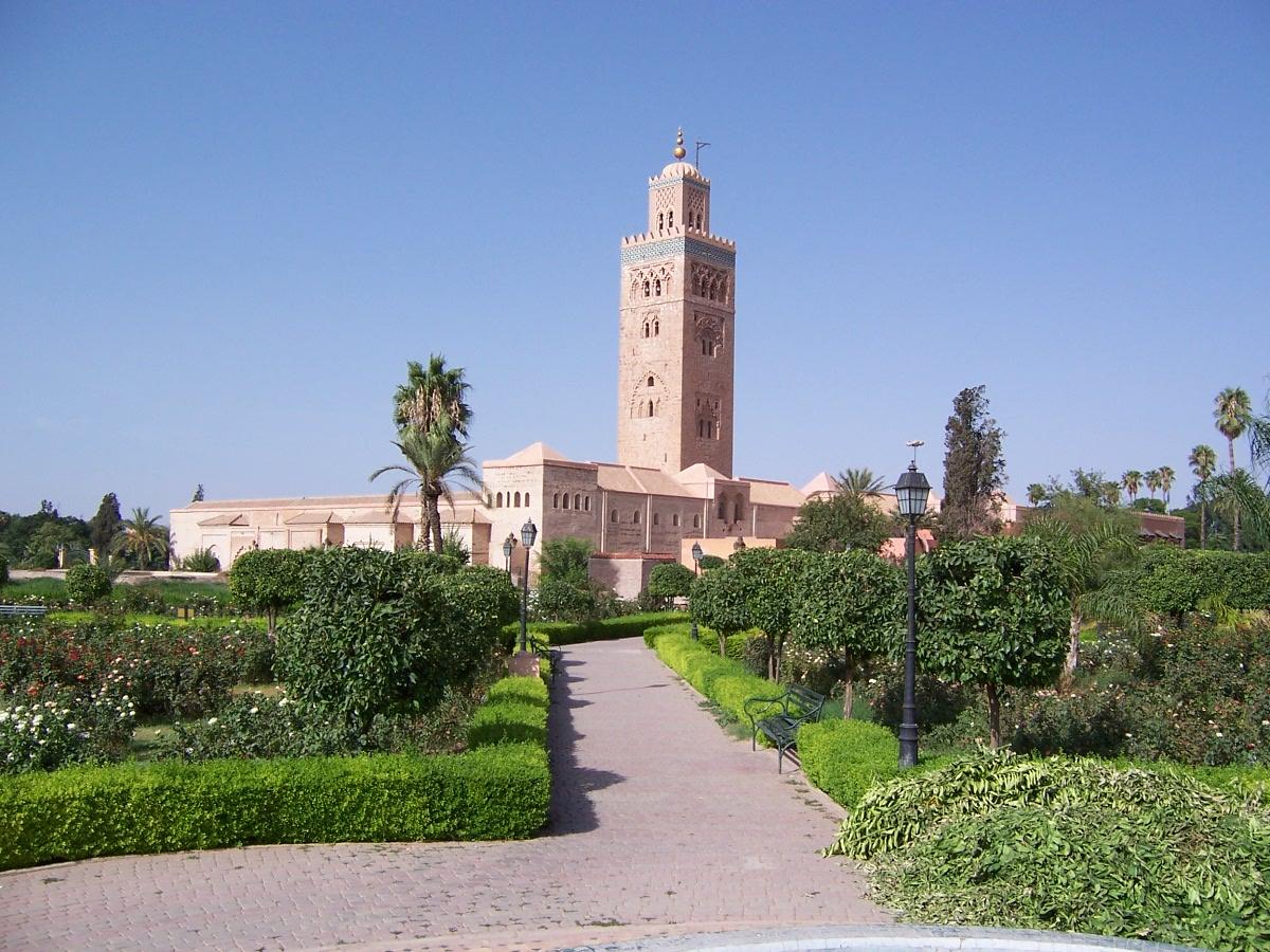 Вид на мечеть Кутубия из сада