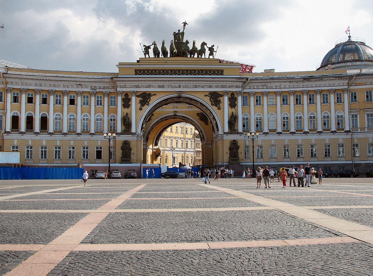 Дворцовая площадь в Петербурге, арка Главного штаба