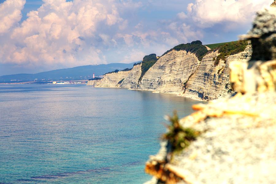 Пляж Сосновка в Геленджике