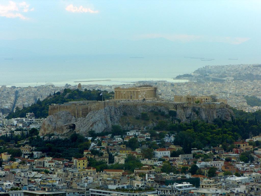 Холм Акрополя с Парфеноном в Афинах