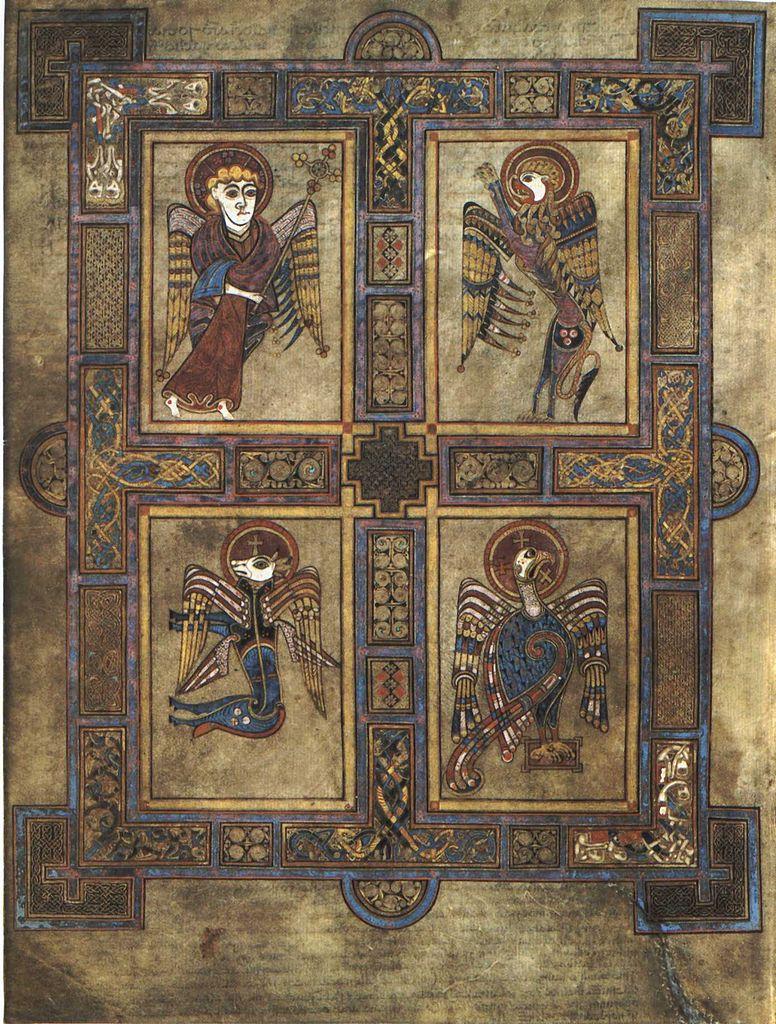 Келлская книга, четыре евангелиста