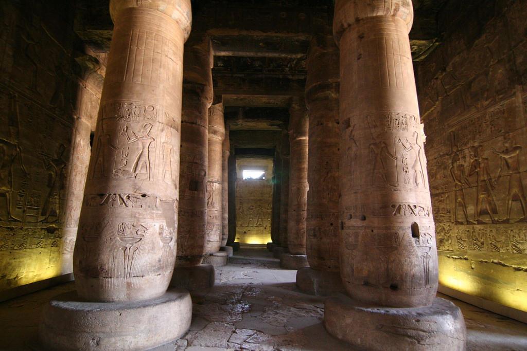 Абидосский храм, колонны