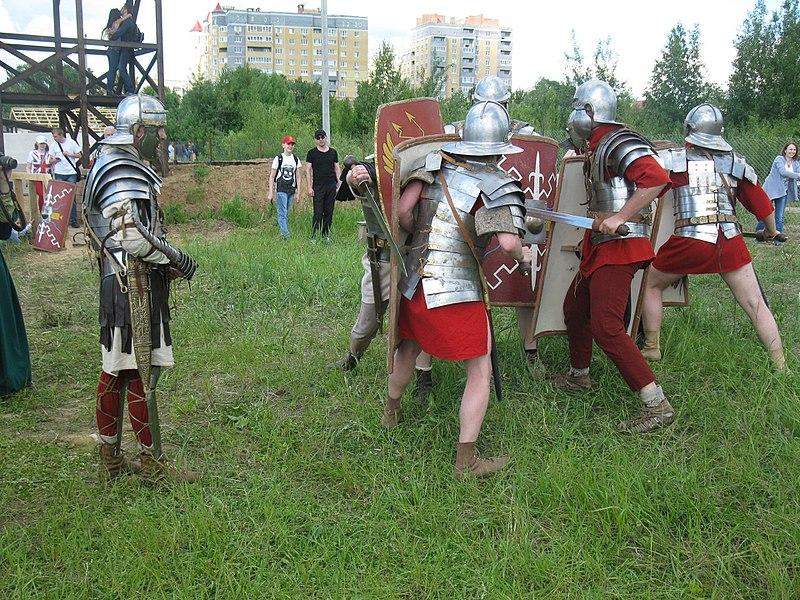 Показательное сражение легионеров