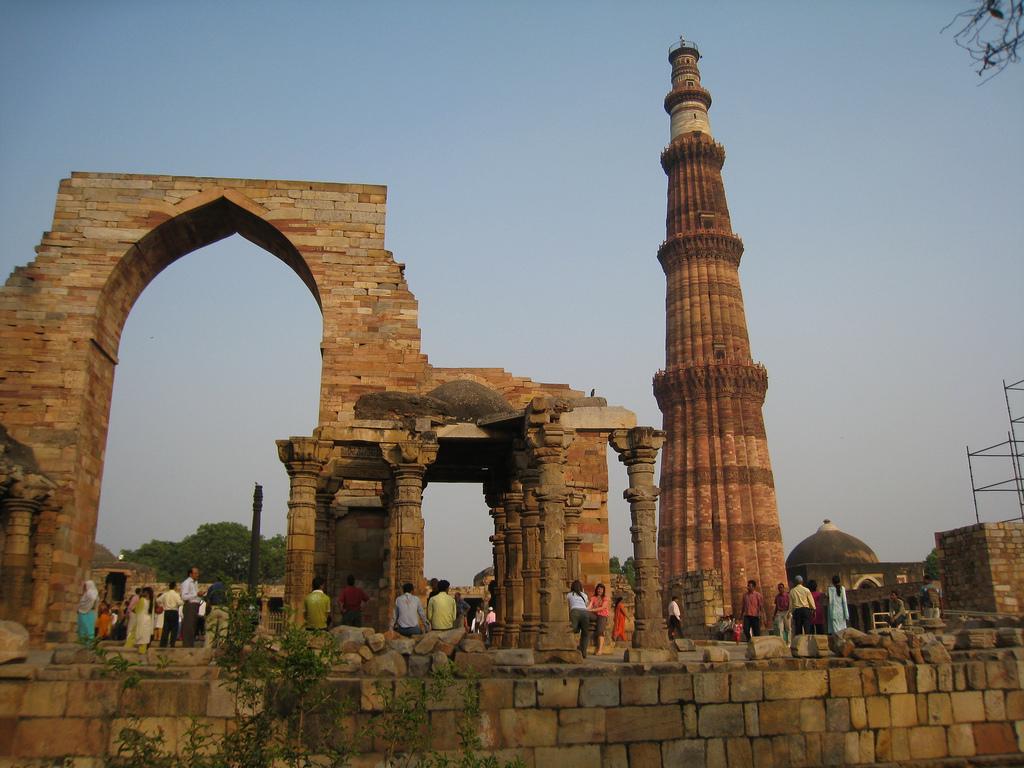 Вид на Кутуб-Минар, Дели