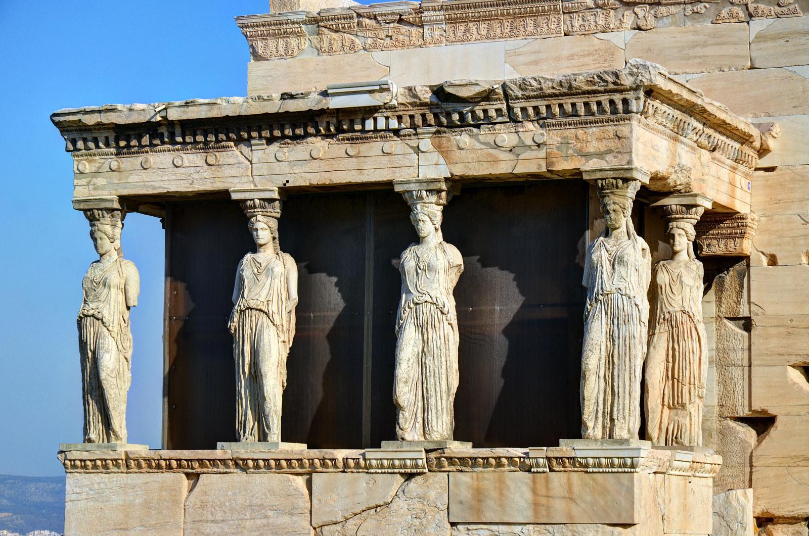 Величественные колонны, Афинский Акрополь