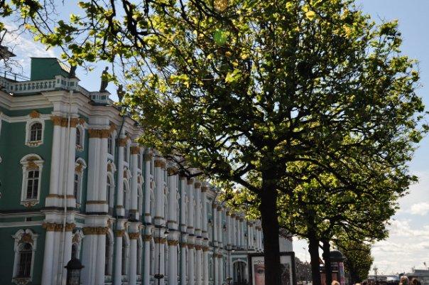Весенний Зимний дворец в Санкт-Петербурге