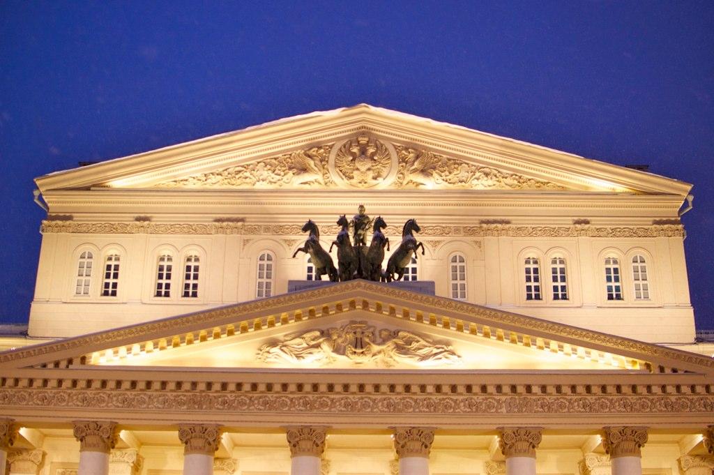 Фасад Большого театра, Москва