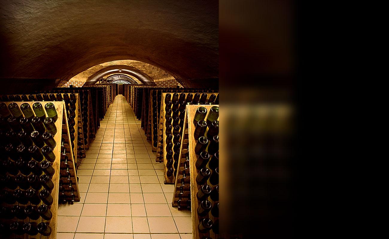 Хранение бутылок, Музей шампанского «Абрау-Дюрсо»