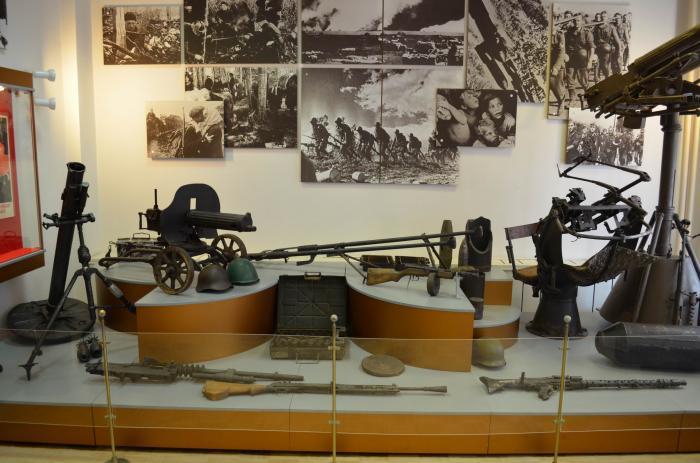 Экспозиция музея Северо-Западного фронта