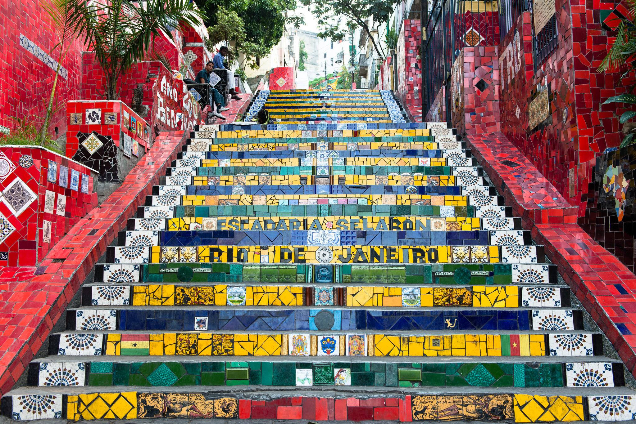 Лестница Селарона, Бразилия
