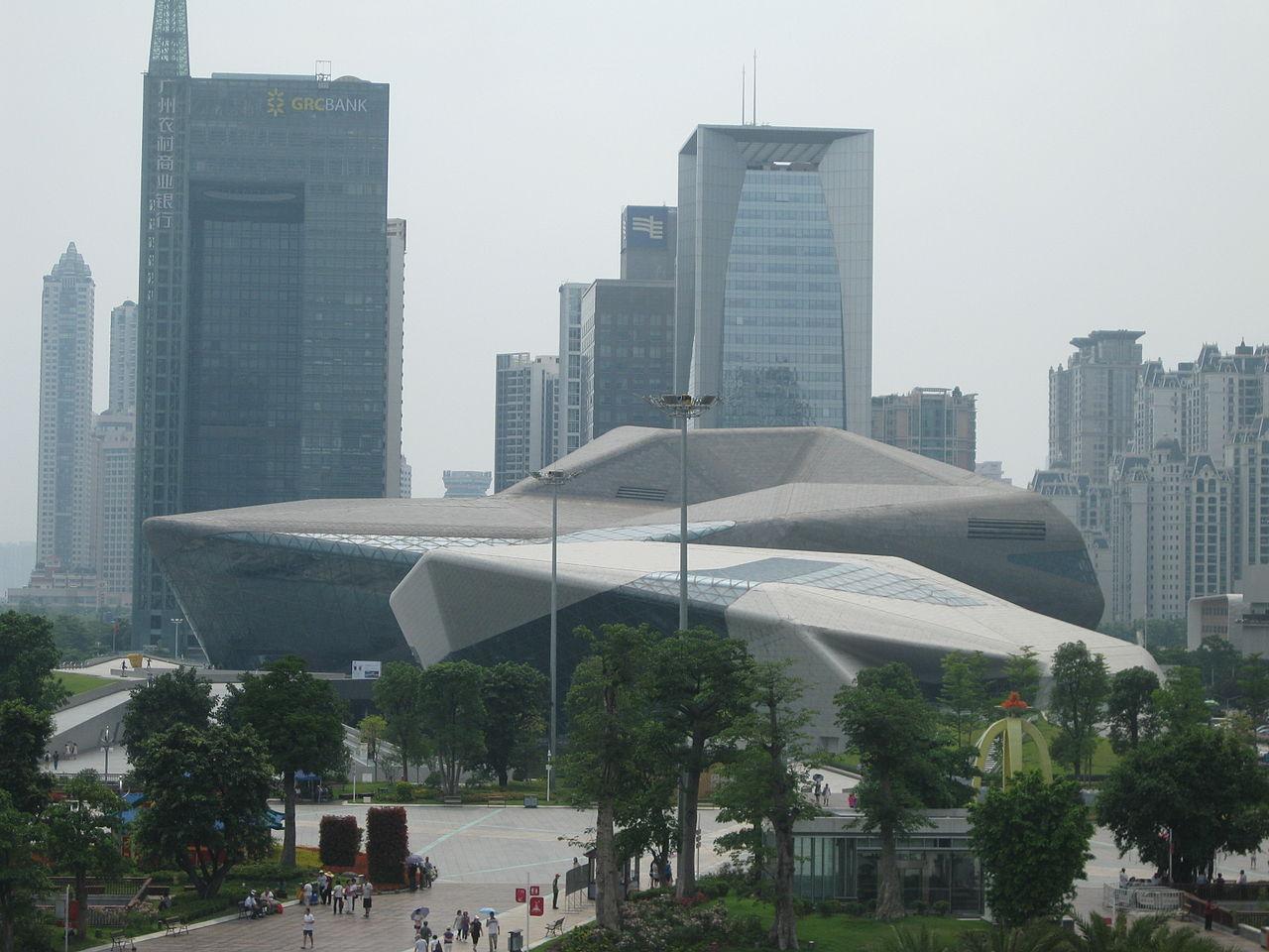 Оперный театр Гуанчжоу, Китай