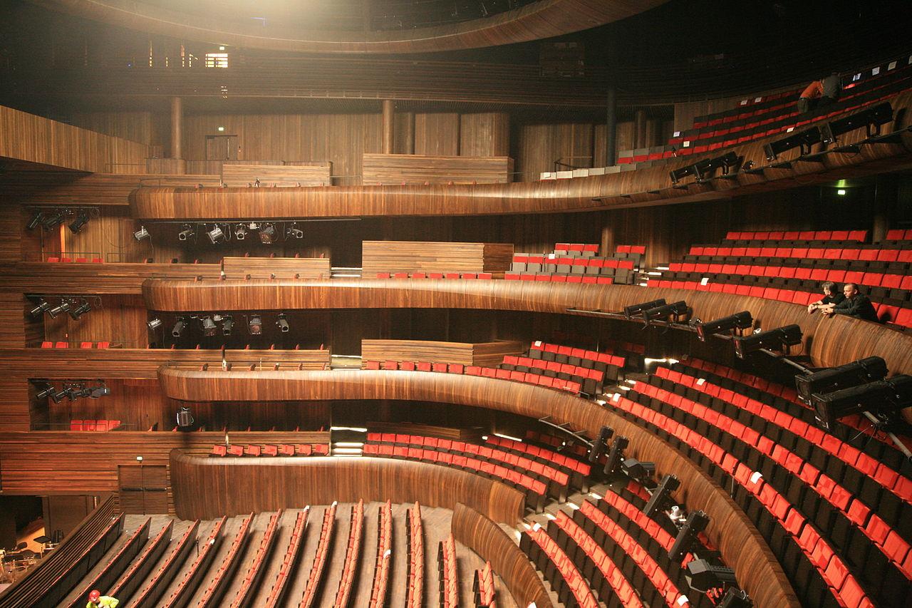 Оперный театр Осло, интерьер зала