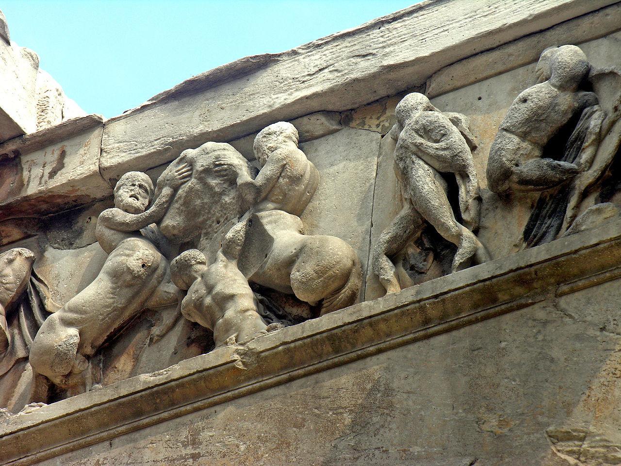 Храм Гефеста, барельеф