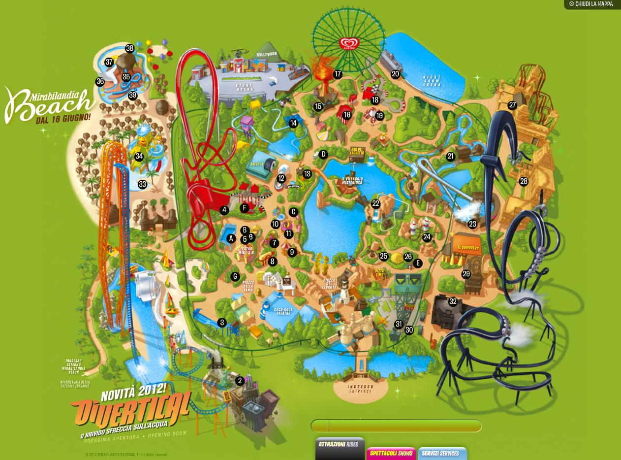 Карта парка Мирабиландия