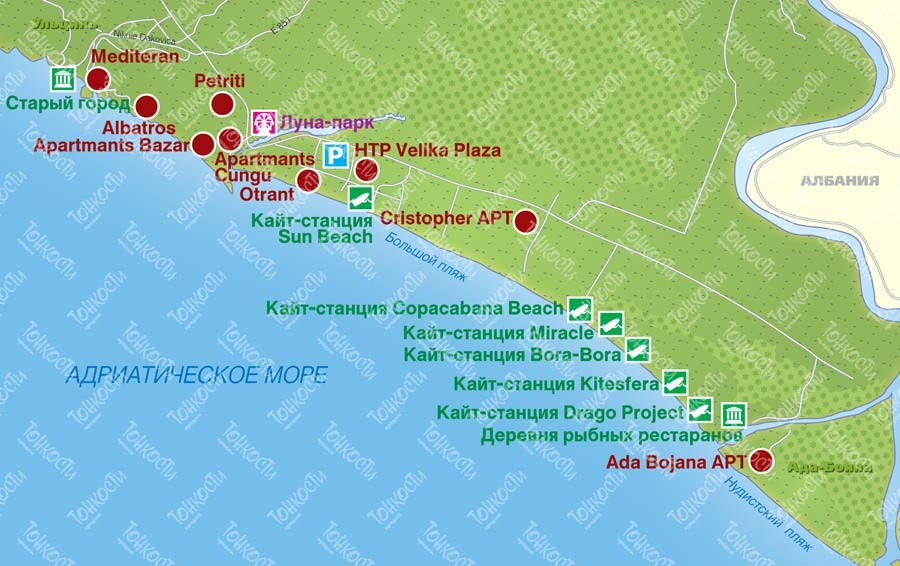 Where is the island of Ada Bojana