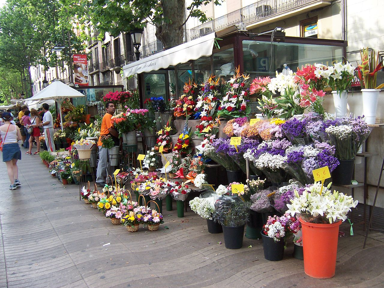 Бульвар Рамбла, магазин цветов