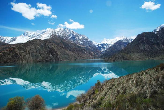 Панорама озера Искандеркуль
