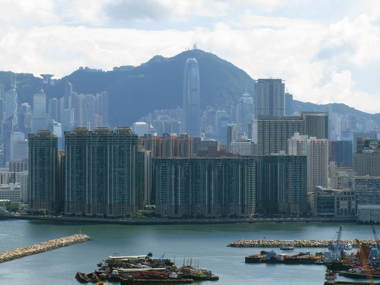Вид на пик Виктория в Гонконге