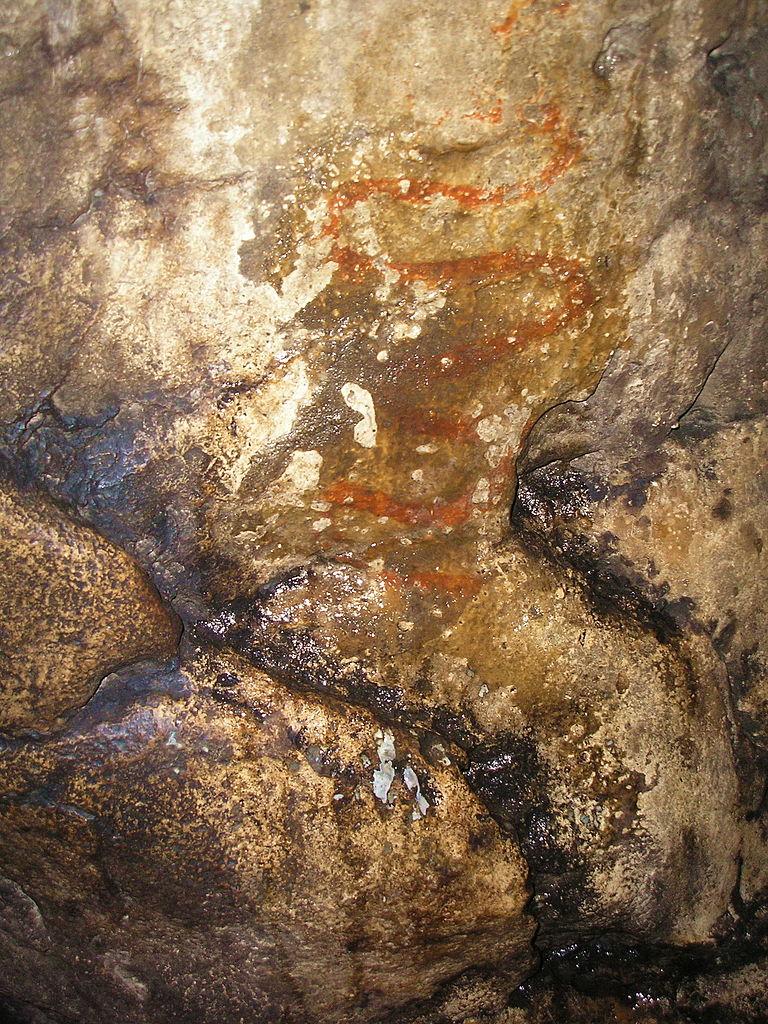 Игнатьевская пещера, изображение змеи