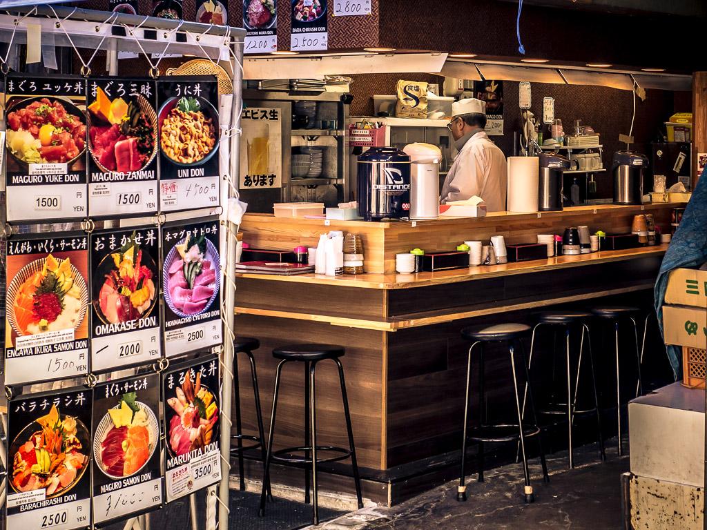 Рыбный рынок Цукидзи, кафе