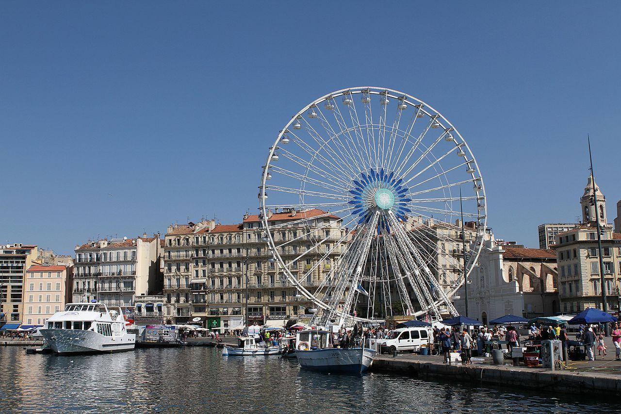 Старый порт Марселя, колесо обозрения