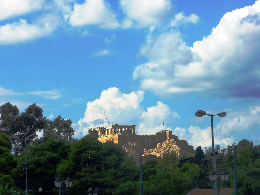 Вид на Акрополь и Парфенон, Афины