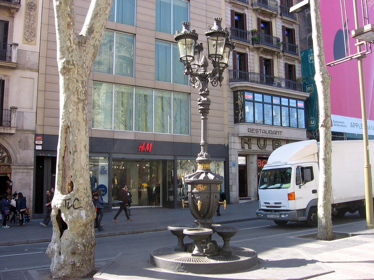 Фонтан Каналетес на одноименном бульваре, Барселона