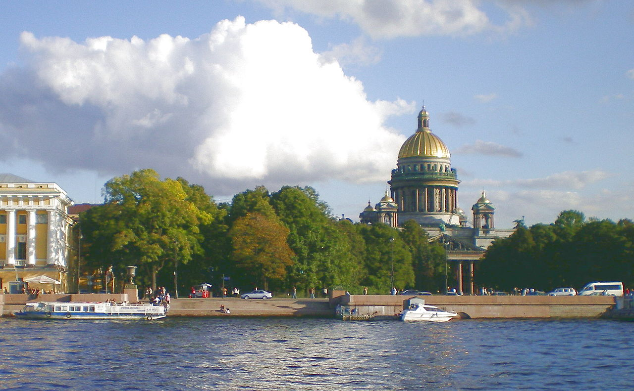 Вид на Александровский сад и Неву, Санкт-Петербург