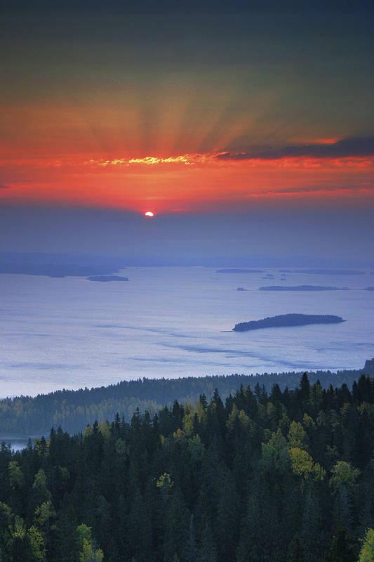 Восхитительный закат в Финляндии
