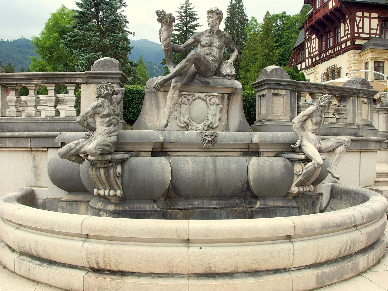 Замок Пелеш, фонтан