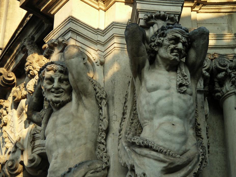 Фасад дворца Цвингер